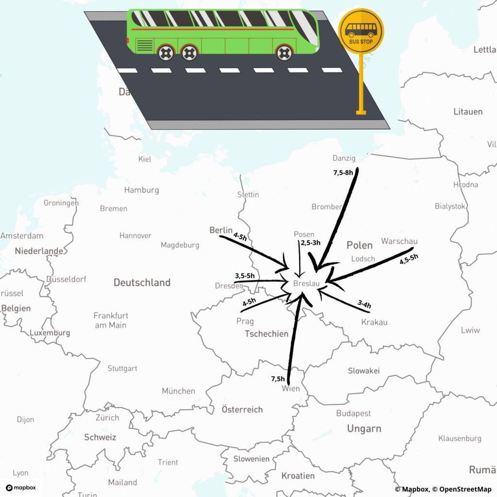 Busverbindungen nach Breslau