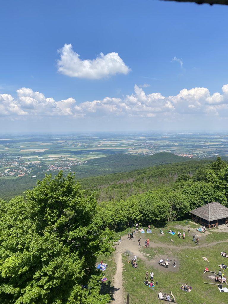 Ausblick vom Zobtenberg (Aufstieg am Zobtenberg (Ślęża)