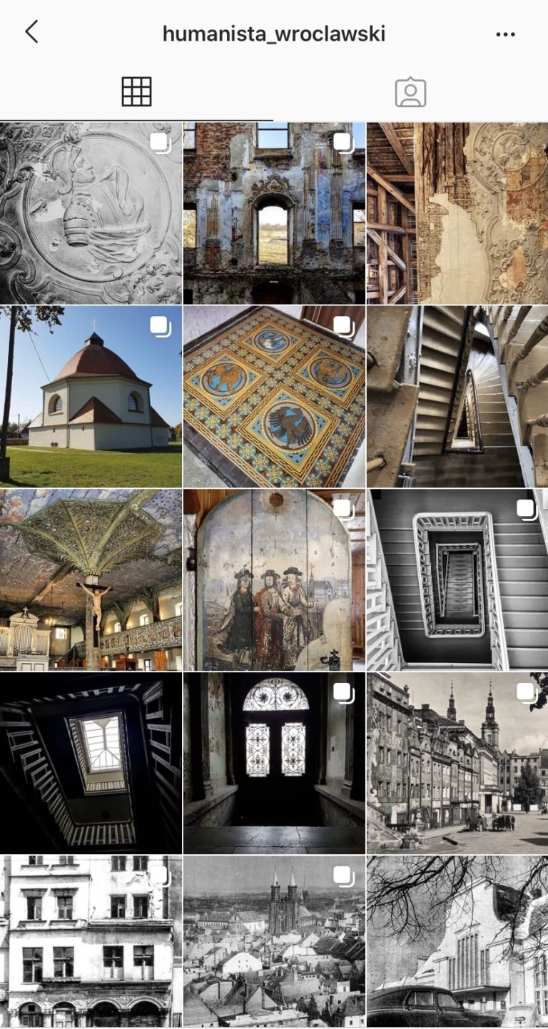 Instagram Profile Humanista_Wroclawski