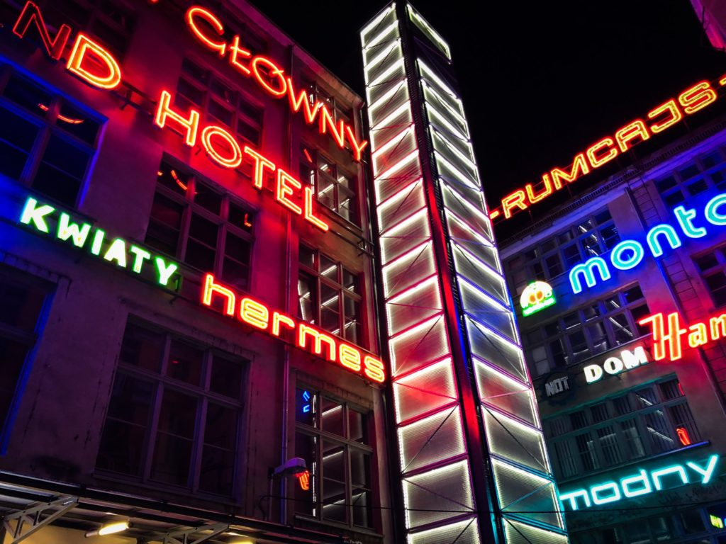 Neon Side Gallery in the Four Denomination District Wroclaw