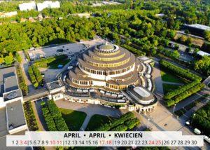 April Wroclaw Calendar