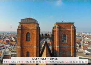 July Wroclaw Calendar