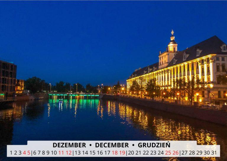 Breslau an der Oder im Dezember