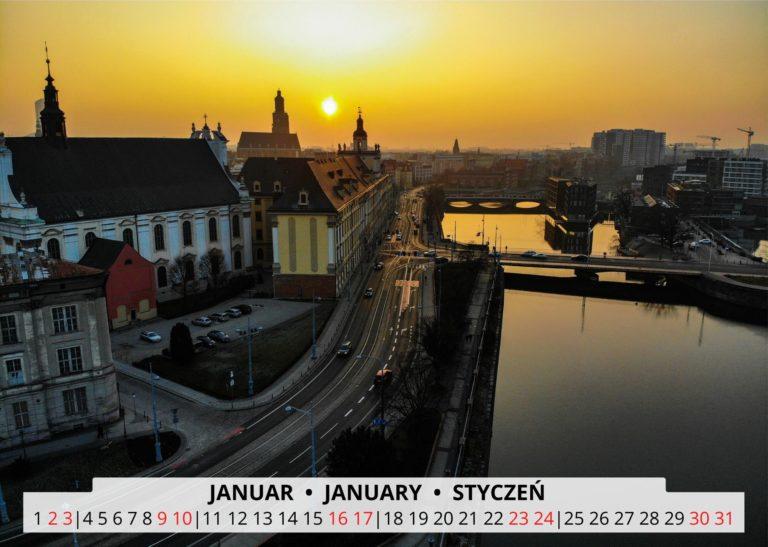 Breslau an der Oder im Januar
