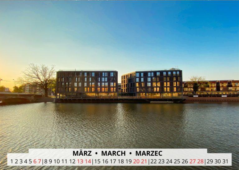 Breslau an der Oder im März