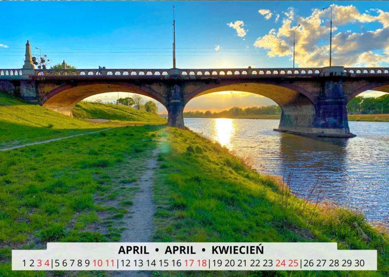Breslau an der Oder im April