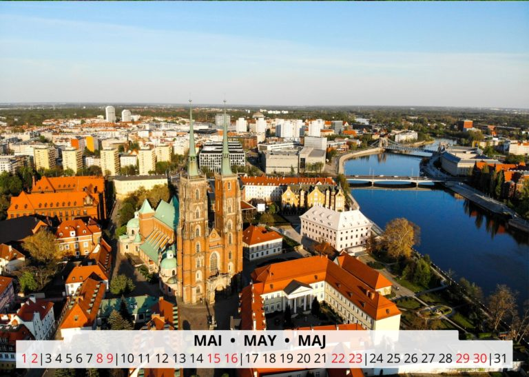 Breslau an der Oder im Mai