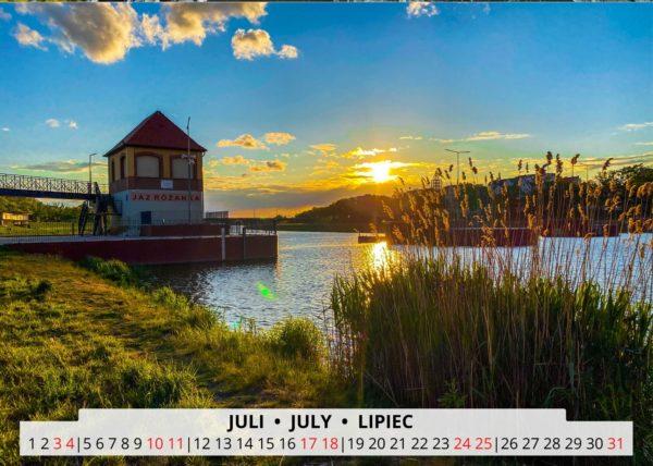 Breslau an der Oder im Juli