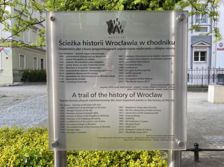 The History Trail in Wroclaw
