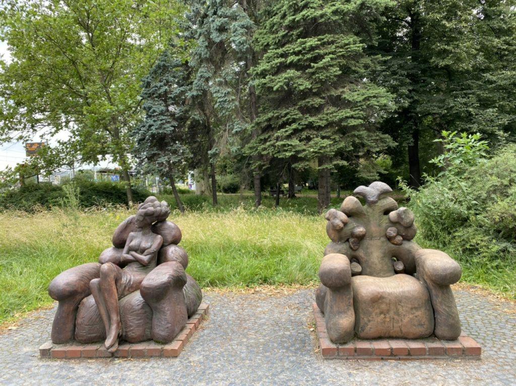 Sculpture of Waiting in Wroclaw