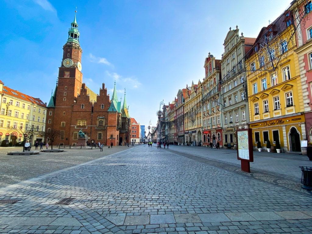 Das Rathaus in Breslau