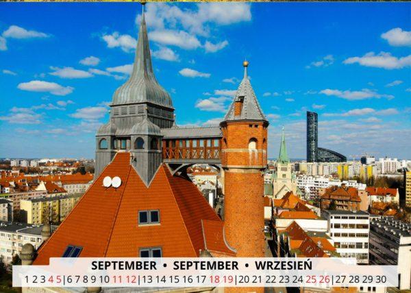 September Wandkalender Breslau