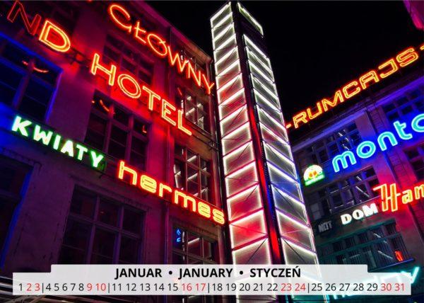 Januar Wandkalender Breslau