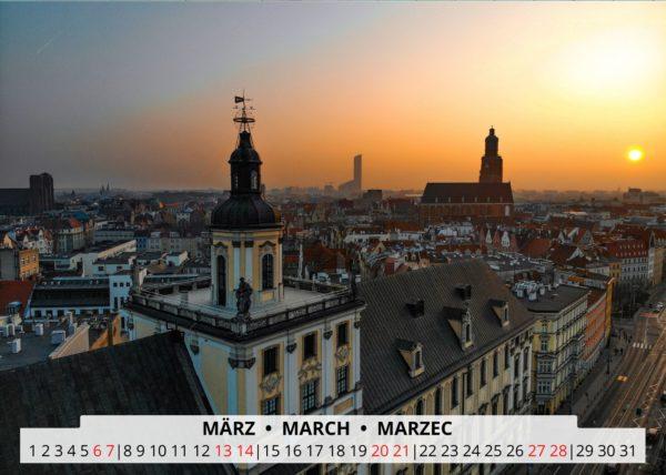 März Wandkalender Breslau