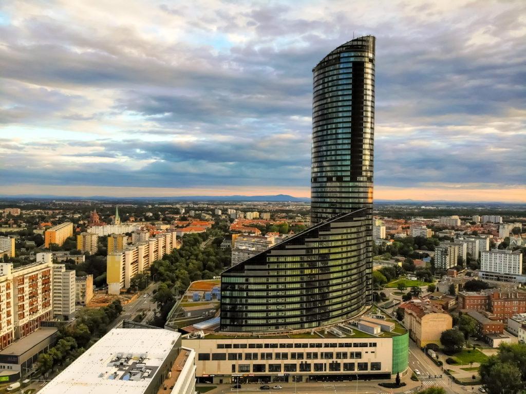 Der Sky Tower in Breslau