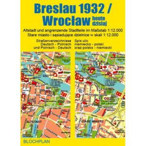 Stadtplan Breslau 1932 Wroclaw