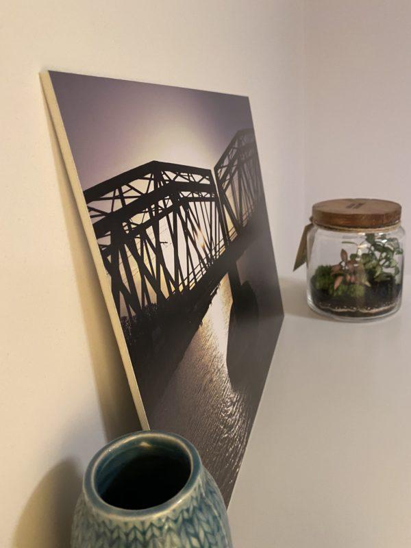 Fotodruck Breslau Brücken und Oder
