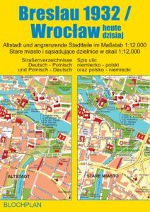Alter Stadtplan Breslau 1932