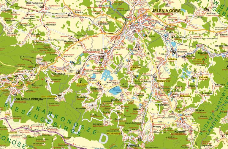 Landkarte Schlesisches Elysium