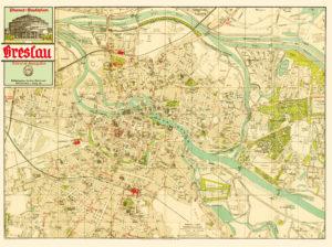 Breslau Wroclaw 1938 Map