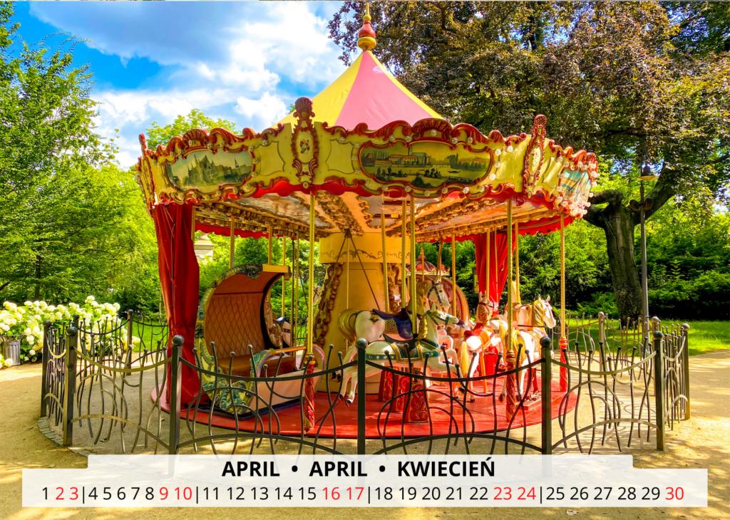 April Breslau Wandkalender