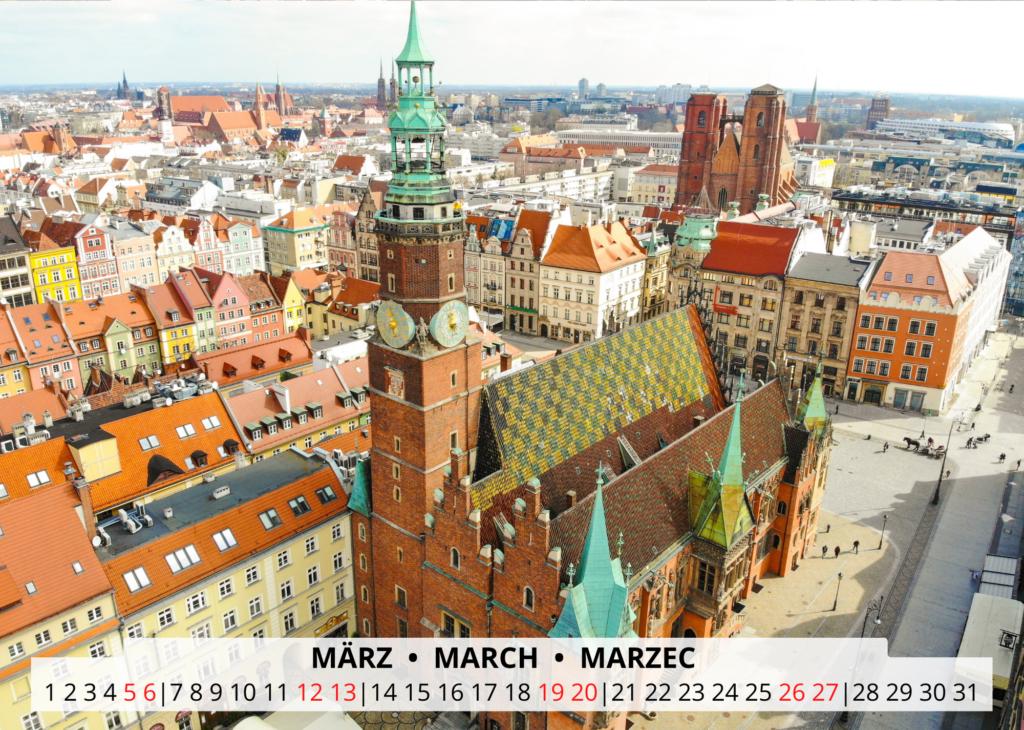 März Breslau Wandkalender