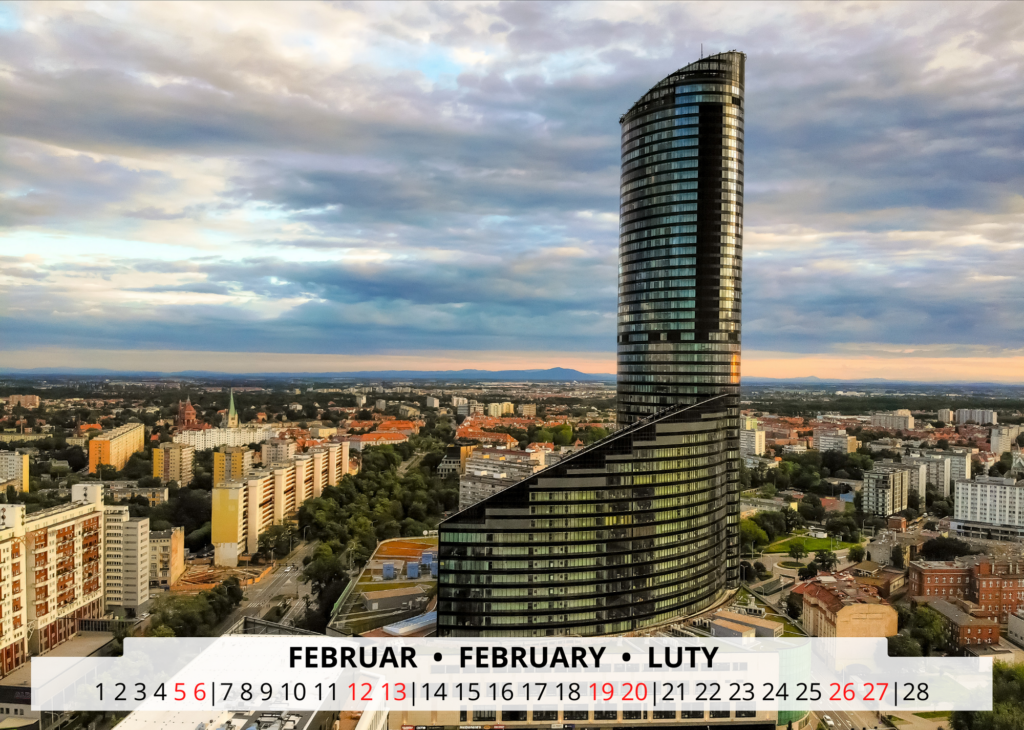 Februar Breslau Wandkalender